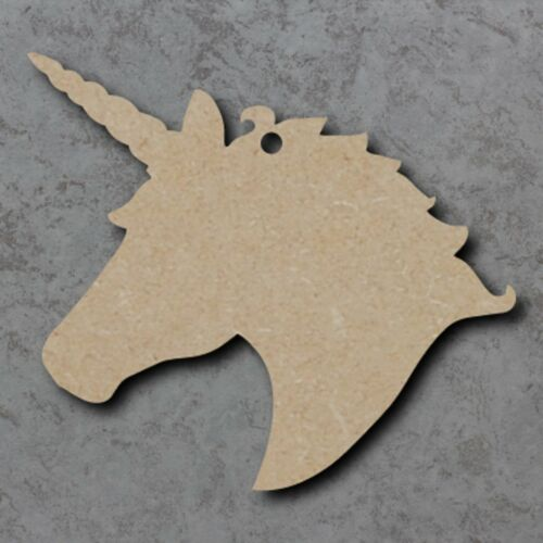 Large MDF Unicorn Head Craft Wooden Shape Blank Wood 20,30 40cm Unpainted