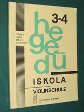 """Méthode """"Hegeduiscola"""" vol. 3-4 école du violon DENES KALLAY…"""