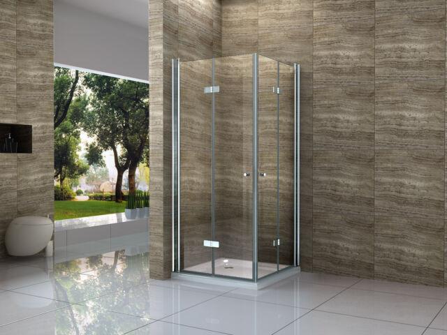 100 x 90 falttr glas dusche duschkabine duschwand duschabtrennung eckeinstieg - Duschtrennwand Glas