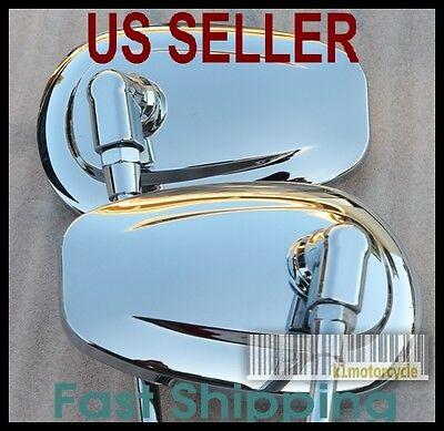 Chrome Mirrors Tear Drop - Honda Shadow 500 700 750 800 1100 VT VF Magna Sabre