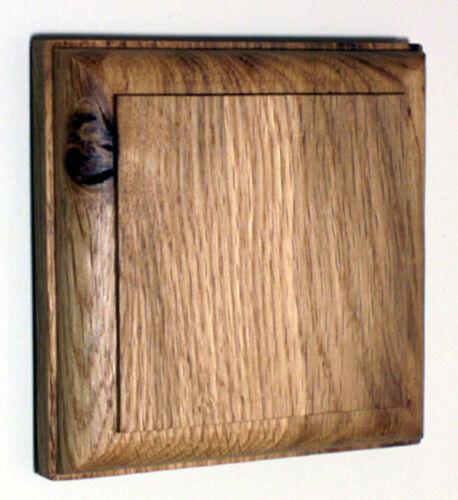 Période unique de chêne Pattress pour monter une période Dolly Interrupteur De Lumière-fabriqué à la main