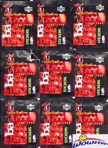 (30) 1997/98 UD Basketball Factory Sealed Sticker Packs MINT-180 Stickers+Jordan