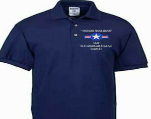 STAVANGER AIR STATION NORWAY USAF EMBROIDERED POLO SHIRT/SWEAT/JACKET.