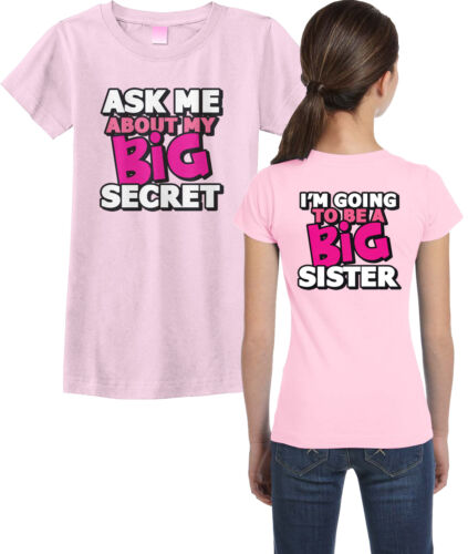 Threadrock Girls Ask Me About My Big Secret Fitted T-shirt Big Sister Cute