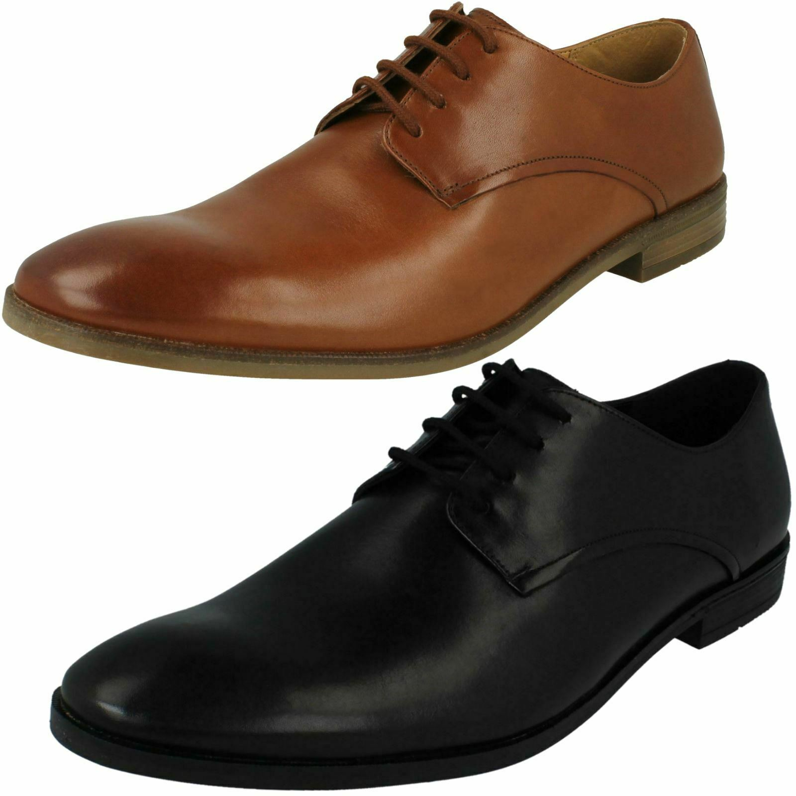 Mens Clarks Smart Lace Up schuhe - Stanford Walk