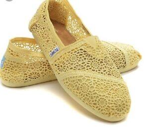 35a38a4fc5c Toms Shoes Lemon Crochet - Yellow Moroccan Brand New w  tags Women s ...