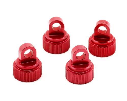 STRC RED ANODIZED ALUMINUM Shock Caps ST3767R Traxxas Stampede Rustler Slash new