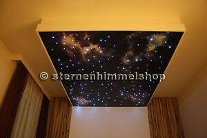 led sternenhimmel 200 lichtfaser sauna bad wellness schlafzimmer, Wohnzimmer