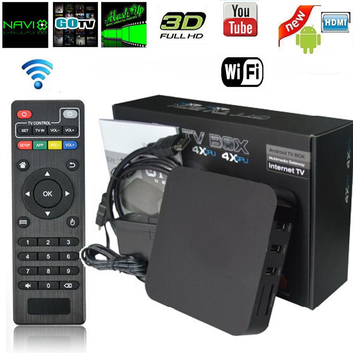 Android Quad Core Iptv Smart Tv Box Media Player Wifi Kodi