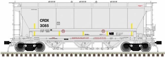 Atlas HO Trinity 3230 3-Bay Covered Hopper Chicago Freight CRDX 3085 #20005538
