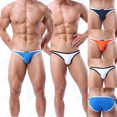 Sexy Men's Sports Swim Briefs Underwear Brand Bikini Underpants Size S- L4 Color
