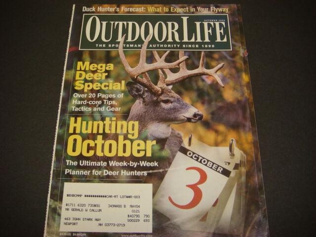 Outdoor Life Magazine October 2003 Mega Deer Special
