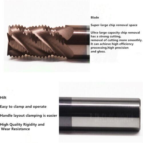 4*50 1Pcs 58 degree rough cutter 4-edge carbide wave-edge milling cutter