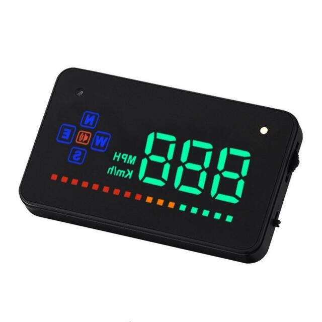 "Head Up Display 3.5"" A2 GPS Car Overspeed Warning Speedometer Cigarette Port AO"