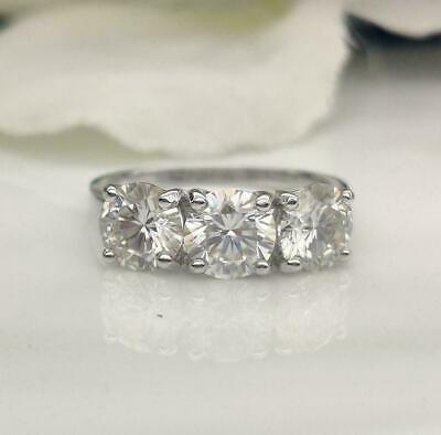 5.07Ct Big Round Cut Diamond Engagement Wedding Ring Set in 14K White Gold