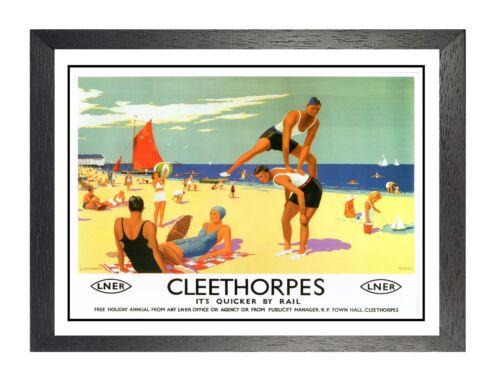Cleethorpes 6 Seaside North East Lincolnshire Railway Advert Vintage Poster