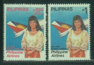 Philippine-Stamps-1991-Philippine-Airlines-Golden-Jubilee-complete-MNH