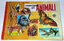 """Album """"Conosciamo Gli Animali"""" con 213/288 figurine edizioni Flash 1983"""
