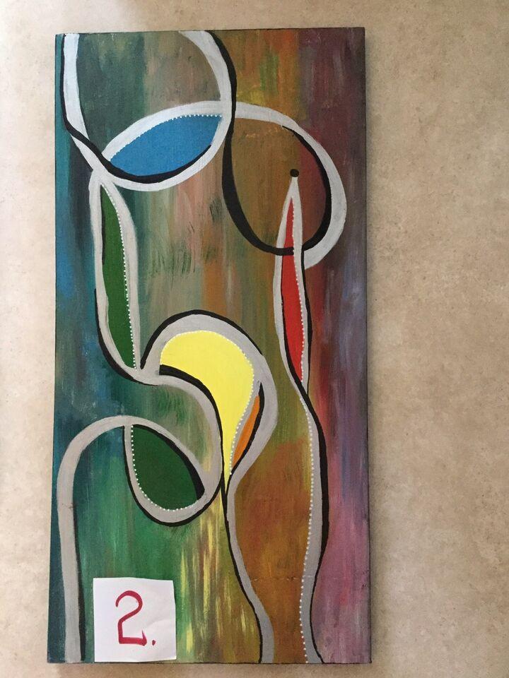 Akrylmaleri, B.Bruun, motiv: Abstrakt