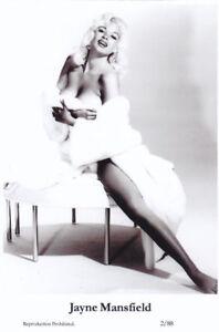 JAYNE-MANSFIELD-Film-star-Pin-Up-Publisher-Swiftsure-Postcards-2000