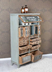 ... Vintage Kommode Loft Moebel Apothekerschrank Industrial Schrank  Hochkommode