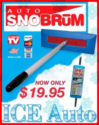 """SNO BRUM 27/"""" CYBER SALE 46/"""" Telescoping Handle Snow Broom Rake AS SEEN ON TV"""