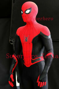 Image is loading Far-From-Home-Spiderman-Costume-3D-Printed-Spiderman- 655048b75c93