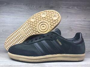 eab7436eb3bf2a Adidas Originals Samba OG Core Black Gold Metallic Gum BZ0063 Men s ...