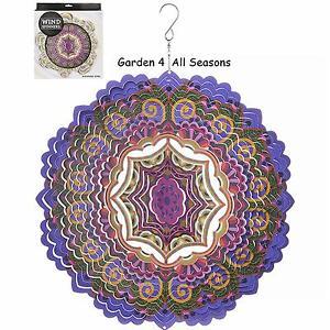 12-034-30cm-CHAKRA-PURPLE-Stainless-Steel-Wind-Spinner-Sun-Catcher-Hook-Garden-Gift