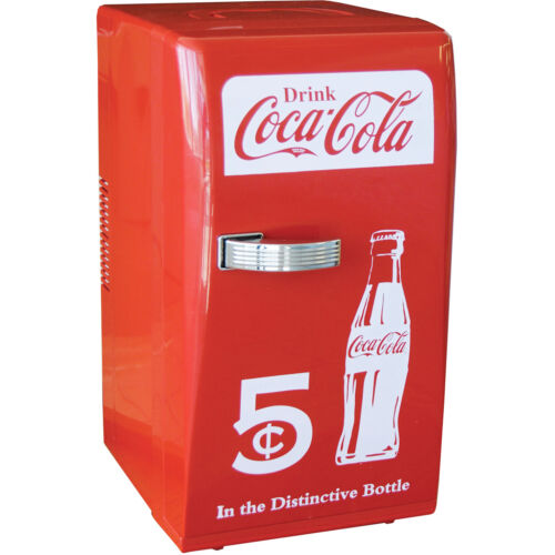 Coca-Cola Retro Mini Refrigerator, Personal Countertop Coke Dorm Compact Fridge