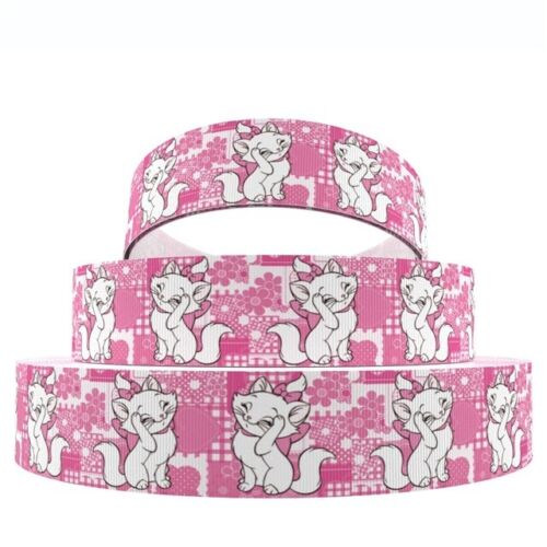 """Aristocats Marie Kitten 1/"""" Wide Repeat Ribbon Sold in Yards USA SELLER"""
