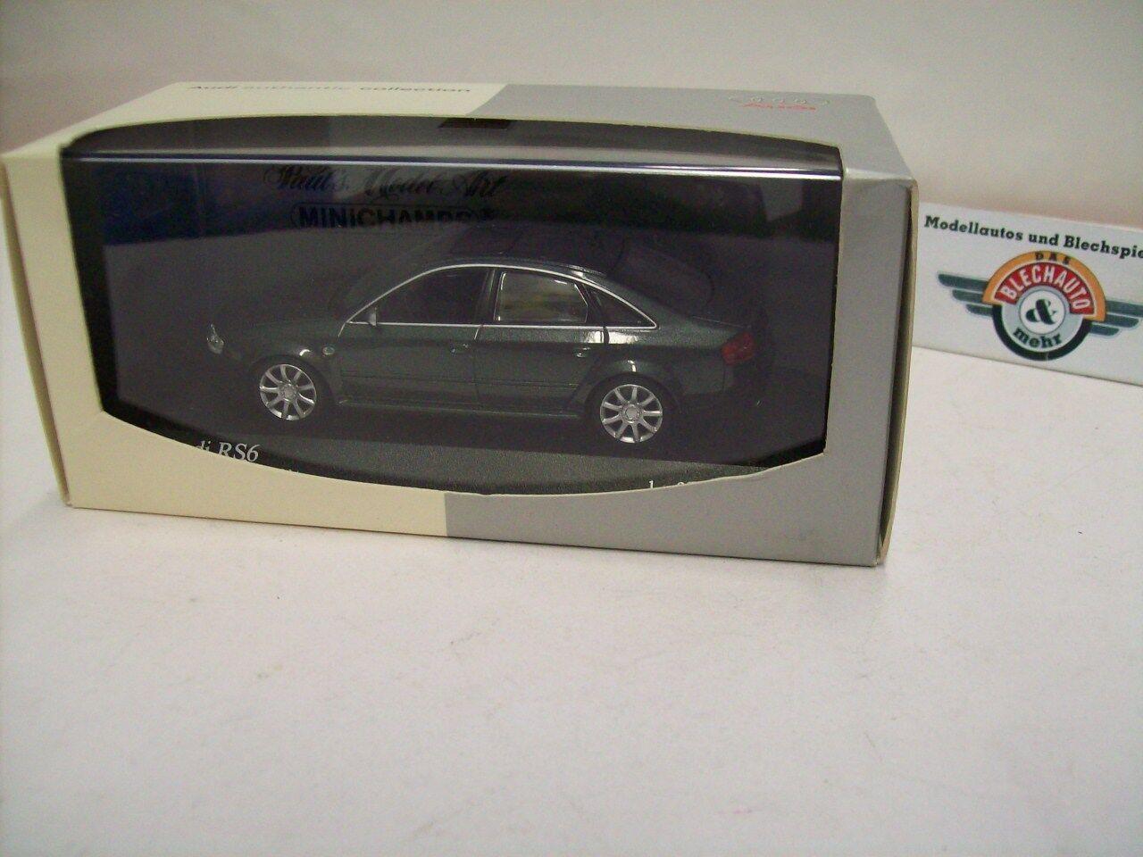 Audi RS6 (C5), 2002, Ebonyblack perleffekt, perleffekt, perleffekt, Audi-Dealer (Minichamps) 1 43, OVP bba525