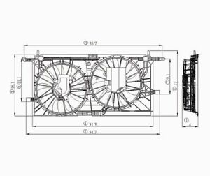 Dual Radiator and Condenser Fan Assembly TYC 620780
