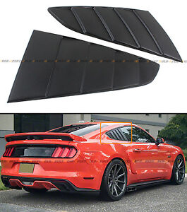 Camisin Car Tunning Panel Side Air Vent Cover Rear Quarter Window Louvers Spoiler Scoops for Mustang 2015-2020