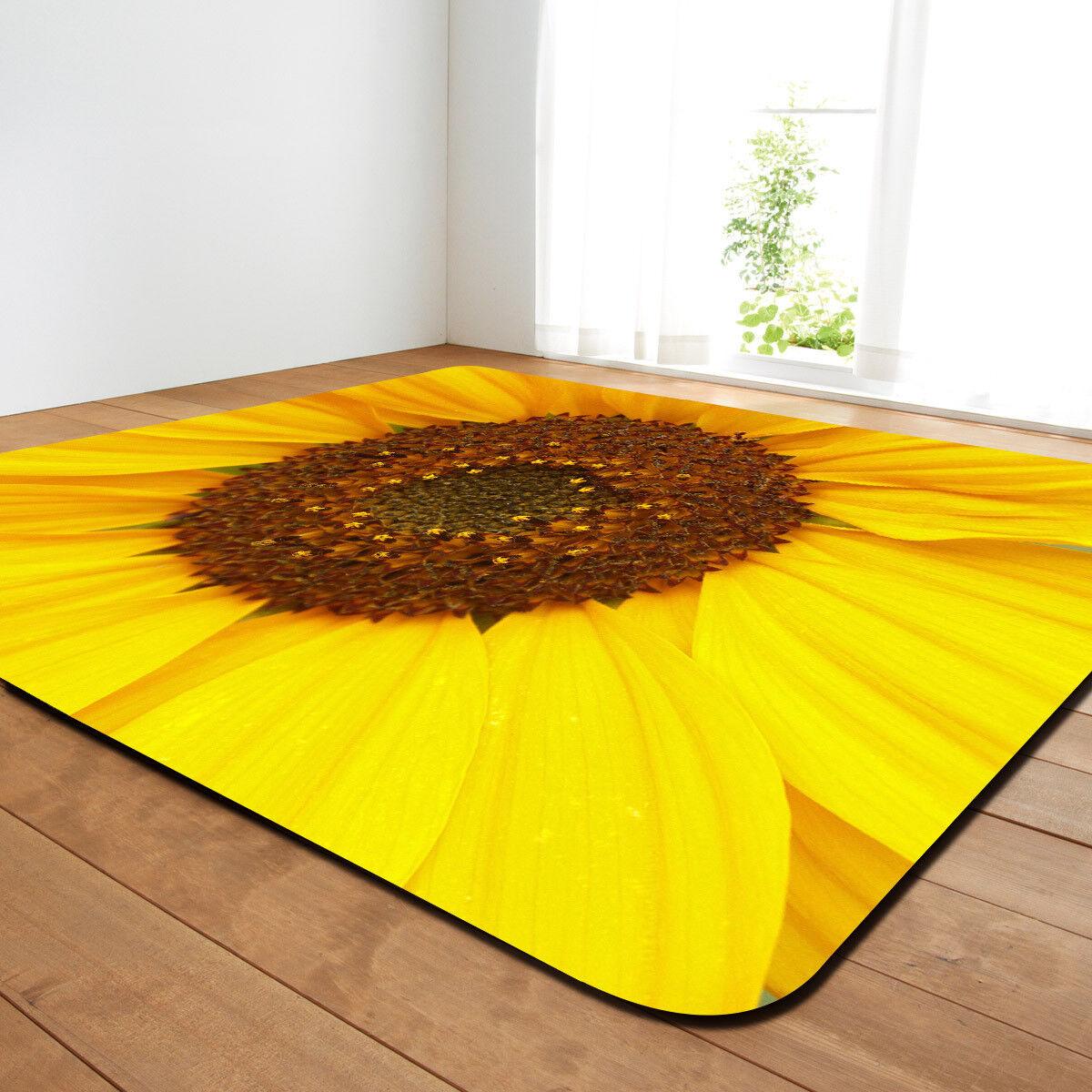 3D tapis Jaune Tournesol tapis 3D moquette. aucun feuillet. 87c938