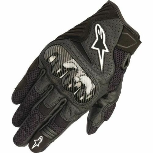 All Sizes Alpinestars SMX-1 Air V2 Vented Leather Motorcycle Glove Black