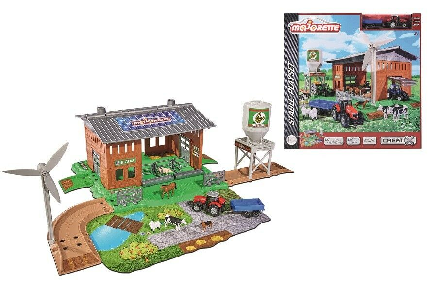 Majorette 212050007 - Farm   Stable Playset - Bauernhof - Neu