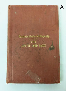Antique 1840s Bartlett's National Biography Series Life of Lord Francis Bacon