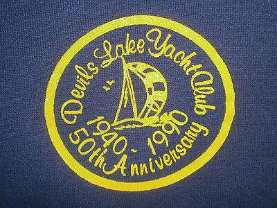 Accurato Vintage Anni 80 90 Diavoli Yacht Club Felpa Michigan 1990 50° Anniversario