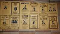 OUTLAWS TOMBSTONE POSTERS, Novelty reproductions, SET C,O.K. Coral Wyatt Earp