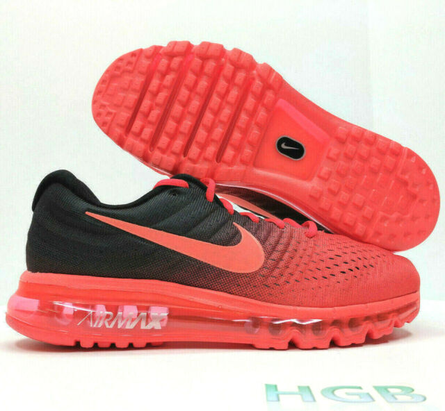 low priced 9fe9b 71d96 Nike Air Max 2017 Men's Running Shoes - Bright Crimson/Black