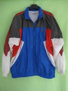 3b6b6c12ea350 Veste Adidas Nylon Polyamide 90 S Bleu rouge Vintage Oldschool ...