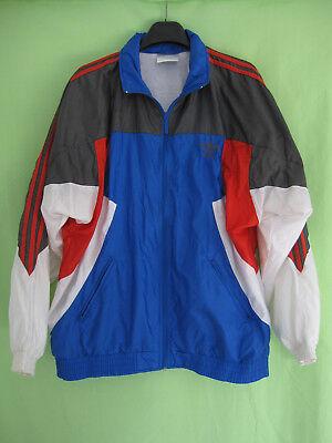 100% Vero Veste Adidas Nylon Polyamide 90's Bleu Rouge Vintage Oldschool Jacket - 186 Le Materie Prime Sono Disponibili Senza Restrizioni