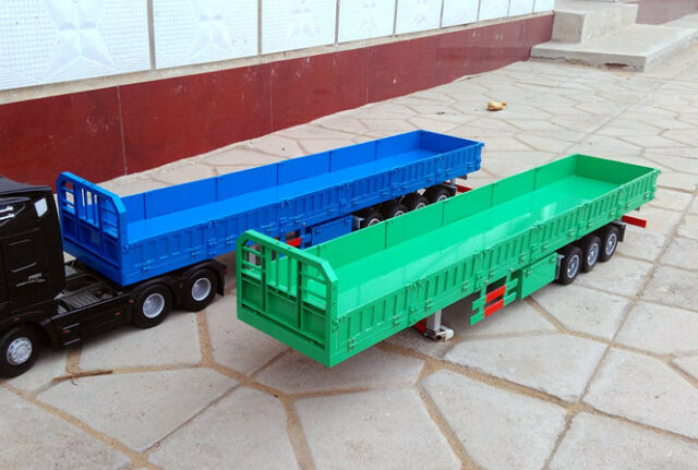 1/14 3-axis 1000 mm HandMade Aluminum Semi Trailer for Tamiya Tractor Truck  NEW