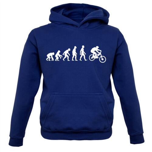 Evolution of Man Mountain Bike-Enfants Sweat à capuche Trail Vélo Bicyclette Cycle Cyclisme