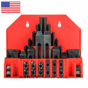 58-Pc-Pro-Series-1-2-034-T-Slot-Clamping-Kit-Bridgeport-Mill-Set-Up-Set-US