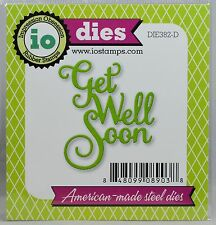 """FREE SHIPPING"" Impression Obsession GET WELL SOON Die DIE382-D Card Making"