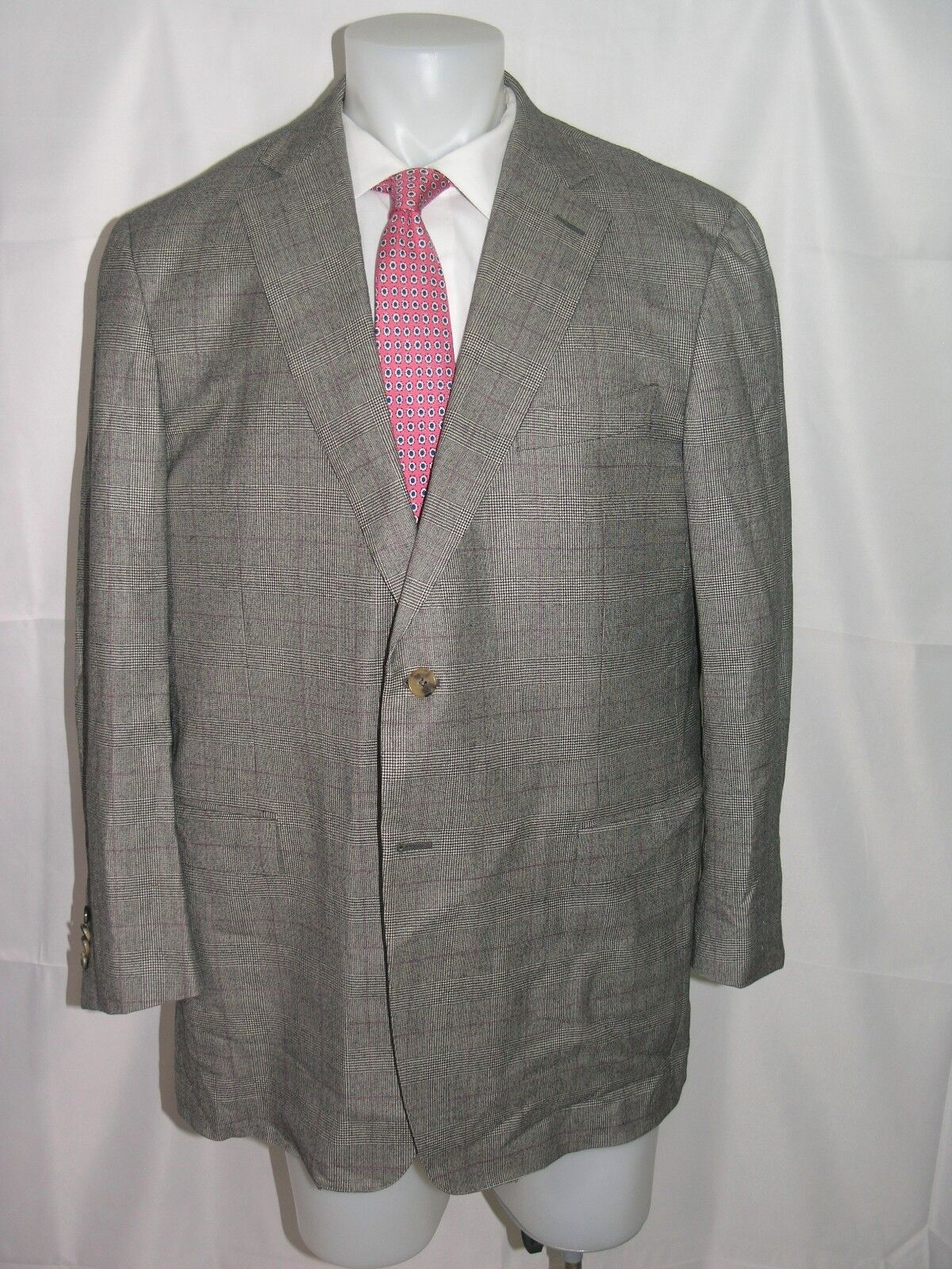 Ermenegildo Zegna 15milmil15 Two Button Prince of Wales Mila Fit Blazer 48 R