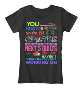 Fashionable-Sewing-Quilting-You-Know-You-039-re-A-Women-039-s-Premium-Tee-T-Shirt