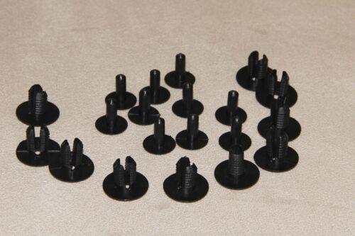 Carpet /& Linings 10PCS Interior Trim Panels PORSCHE 928 BLACK Rivets